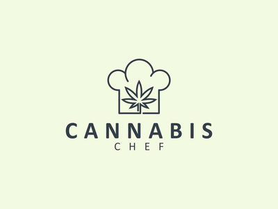 CANNABIS CHEF logo illustration chef cannabis kreative awesome symbol mark brand minimal icon lineart design logo graphic design