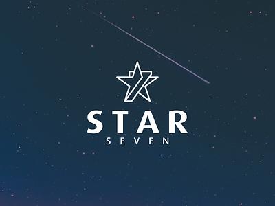 STAR SEVEN logo seven number star simple illustrations symbol logotype mark minimal logo lineart design icon graphic design