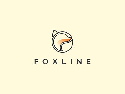 FOXLINE logo inspirations logo symbol animals fox vector branding illustration icon minimal lineart design logo graphic design
