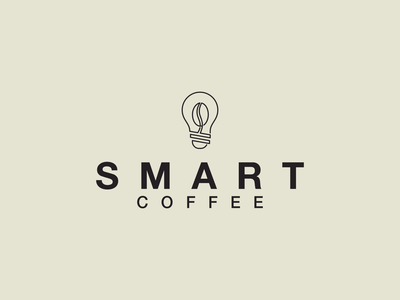SMART COFFEE logo simple coffee smart awesome symbol branding design illustration minimal logo lineart icon graphic design