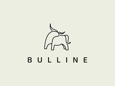 BULLINE logo idea logo idea branding inspirations logo symbol bull animal vector illustration minimal lineart design icon logo graphic design