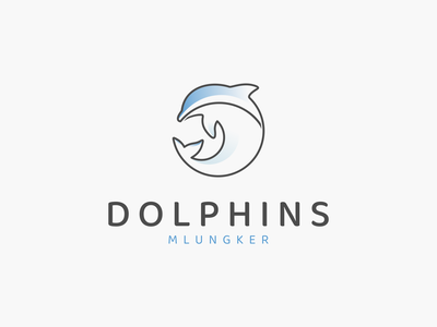 DOLPHINS MLUNGKER logo idea inspirations logo sea dolphins animals symbol vector branding illustration minimal lineart icon design logo graphic design