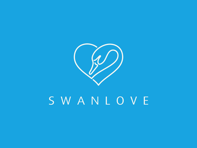 SWANLOVE logo idea logoawesome logoexcellent logoideas beautifullogo inspirationslogo love swan animals symbol vector branding illustration minimal lineart design icon logo graphic design