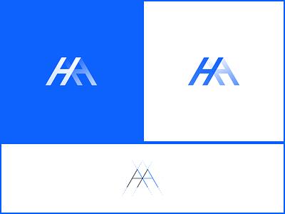 H+Mountain illustration icon design logo