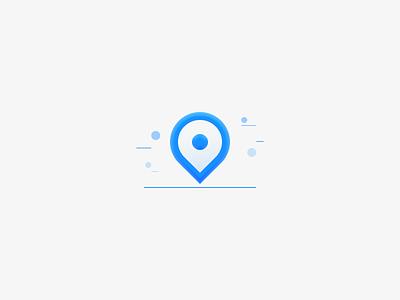 Location location vector ui illustration icon design