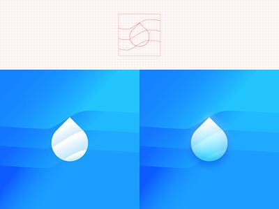 Water Drop app illustration branding logo icon