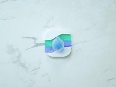 DROP LOGO ui design logo app icon c4d 3d