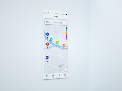GIS app illustration design homepage 3d