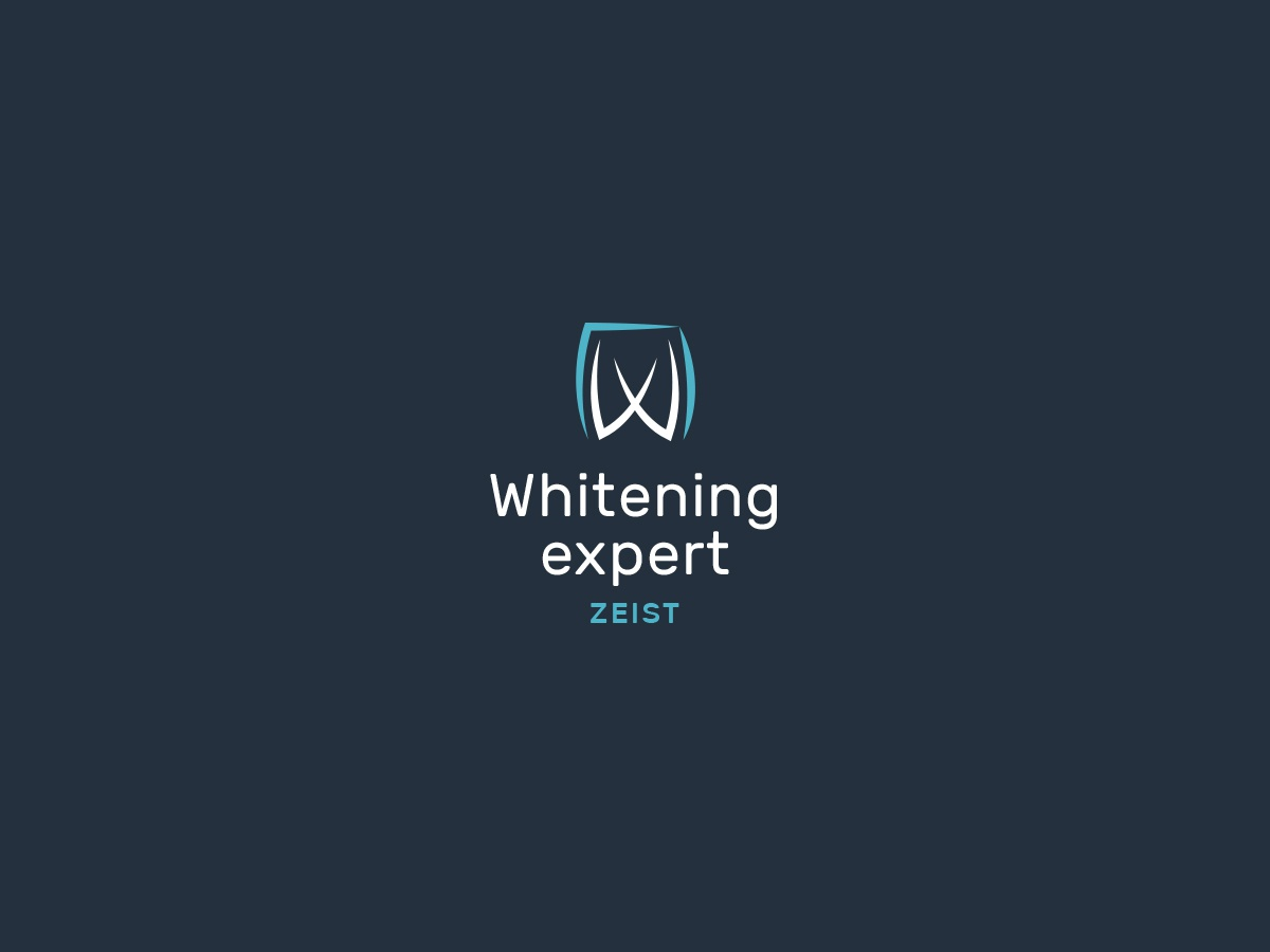 Whitening expert logo branding design illustration vector personal typography tooth dentist dental dental care dentistry dental logo dental clinic