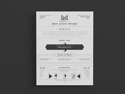 Resume Up Do motion new brand animation animate cv branding resume design