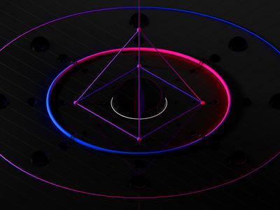 Centered symmetry geometry bubble water c4d color sphere 3d