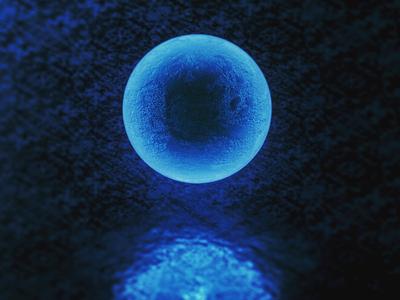 FROZEN sphere blue illustration design c4d frozen 3d ice