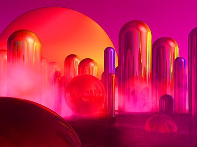 Future.exe texture future geometry bubble water c4d color sphere 3d
