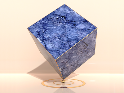 Under Pressure digital color egg gold marble c4d cube 3d