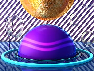 RANDOMZZ digital pattern bubbles c4d color sphere 3d