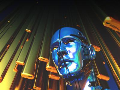 MODERN_CONSUMER concept illustration color gold scifi future c4d 3d