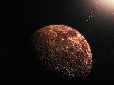 Fallen space planet after affects 3d