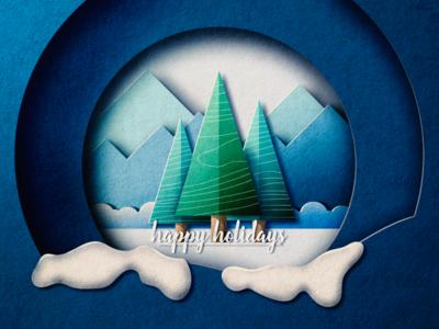 Happy Holidays design paper holidays color illustration