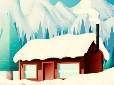 Winter Wonderland holidays winter color illustration illustrator