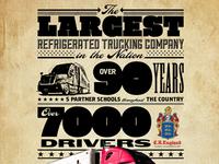Magazine Ad for trucking company