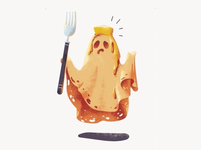 Ghost Pancake site web vector illustration gif animation character pancake ghost