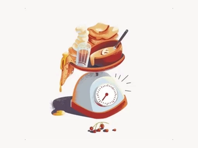 Kitchen Scales web design website vector gif animation illustration scales kitchen
