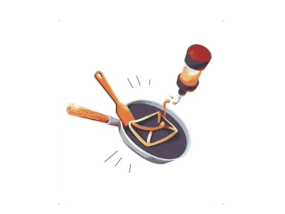 Cooking web design animation illustration website vector site gif