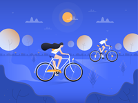 Activy - Illustration for Cycling game app