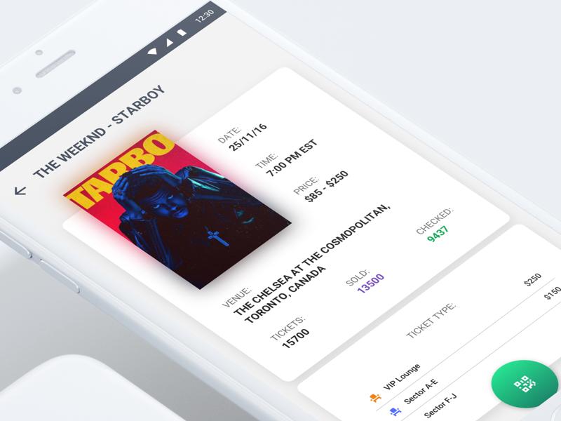 Ticket Management App ui design app design tickets design ios material android simple minimal ux ui