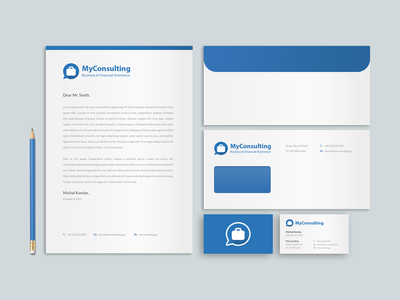 my consulting branding paper envelope logo logotype finance stationary business cards