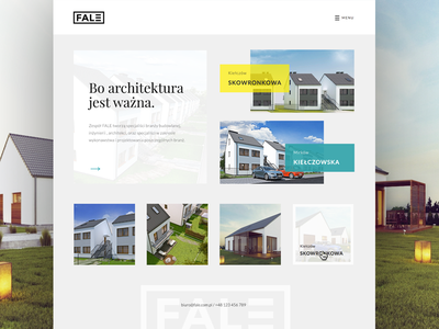 fale simple logo webdesign corporate architect company website