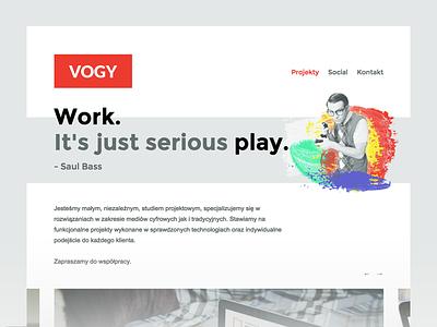 vogy simple folio portfolio digital agency