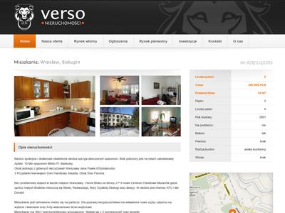 real estate offer simple map navigation top