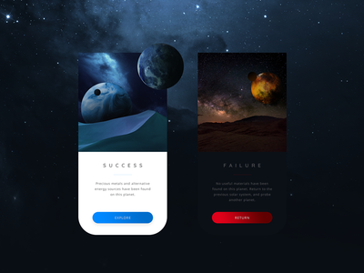 Daily UI 011 - Flash Message (Planet Probing)