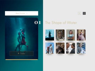 Daily UI 019 - Leaderboards (Oscars)