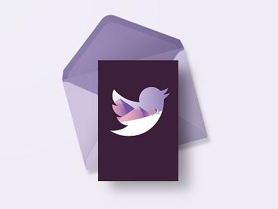 #TwitterChristmas card design twitter design illustration