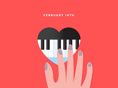 Piano & I hearts music love piano february 14th valentines