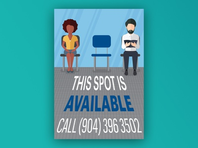 This Spot is Available people sitting ad illustration available spot newspaper
