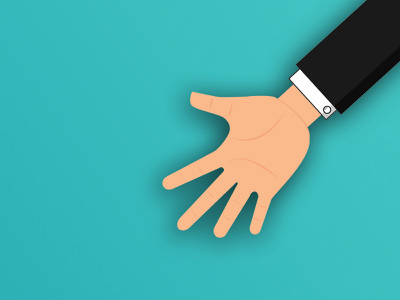 Maybe I can be a Hand Model charity giving philantropy businessman suit illustration hand