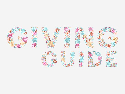 Guiving Guide colors newspaper cover title giving charity philanthropy