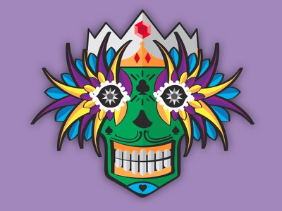 Mardi Gras Mask colors colorful carnival illustration mask new orleans mardi gras