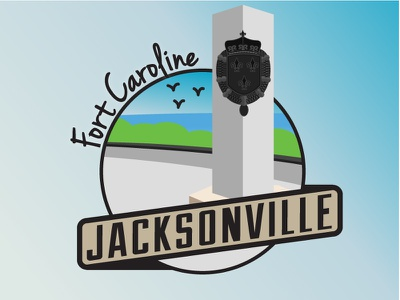 Jacksonville Areas - Fort Caroline jacksonville cities fort caroline florida city badge beach