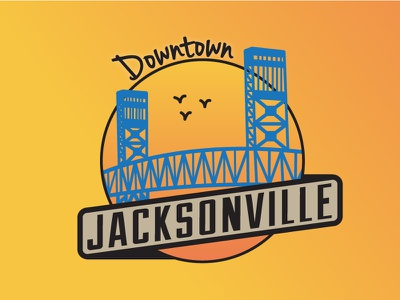 Jacksonville Areas - Downtown sunset icon geofilter snapchat snap bridge jax downtown city badge florida badge jacksonville