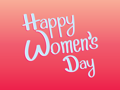 Women's Day Lettering march 8 day woman gradient women womens day lettering