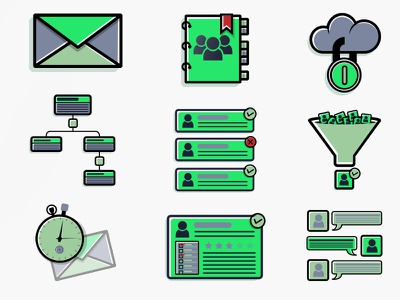 Back to Illustrator - Company Standard Icons software flat illustration enterprise sales tech business icons