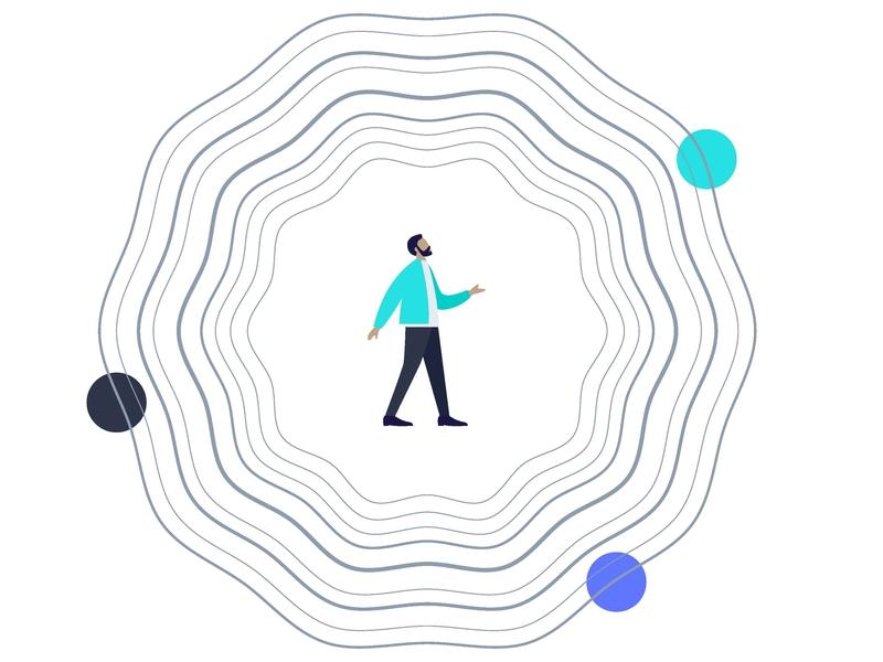 The Sales Vortex lost digital drawing illustration tech swirls vector design startup sales vortex