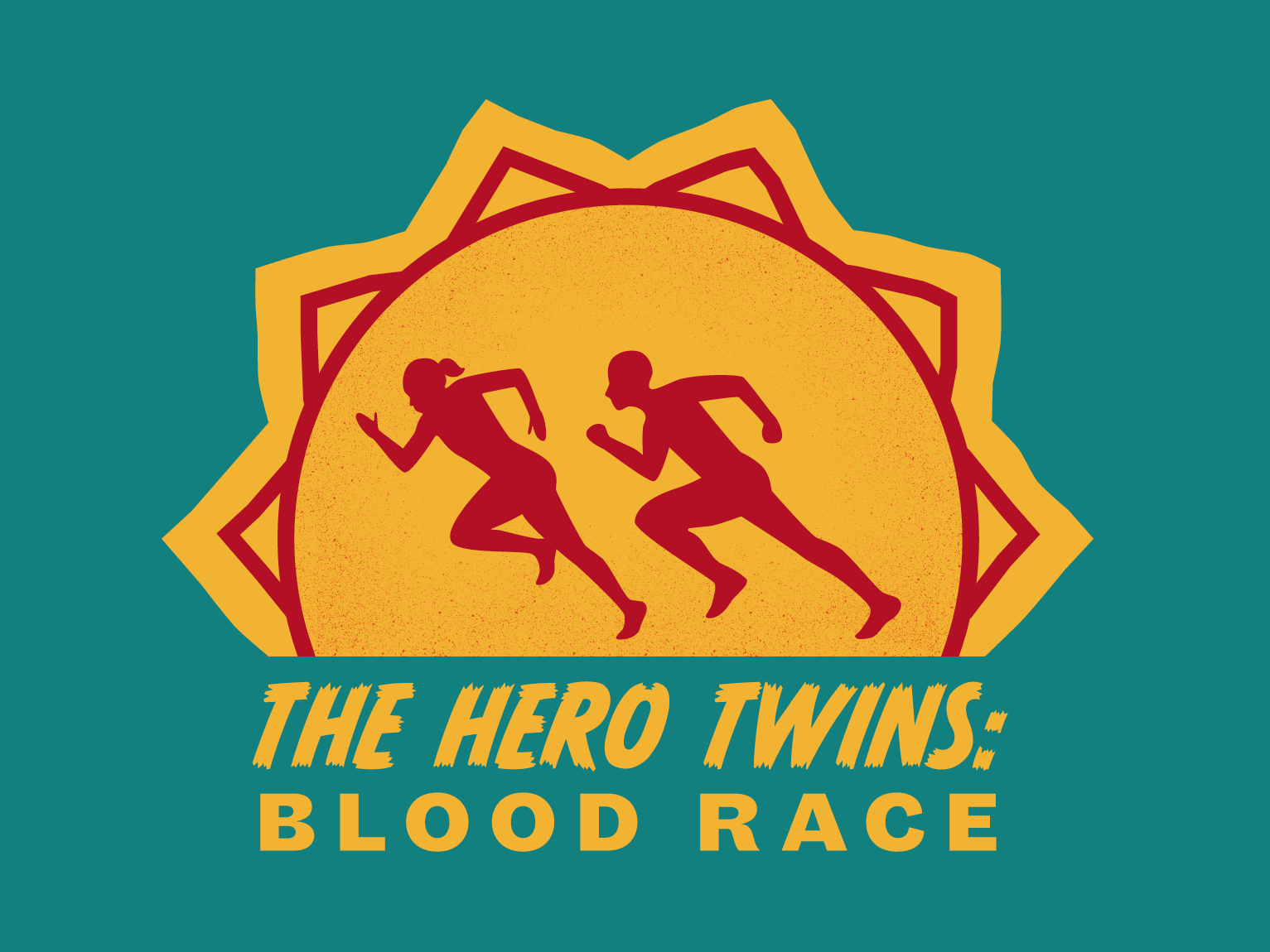 The Hero Twins symbolism calendar silhoutte mayan tribal typography illustrator design logo branding drawing digital vector illustration