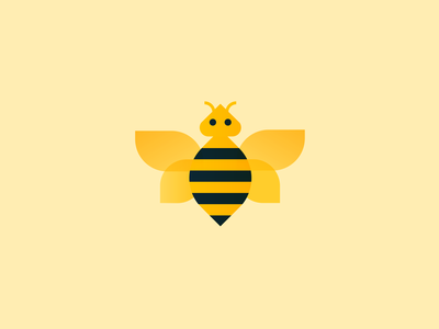 Bee animal insect bug bee icon design illustration