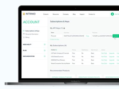 Personal account design