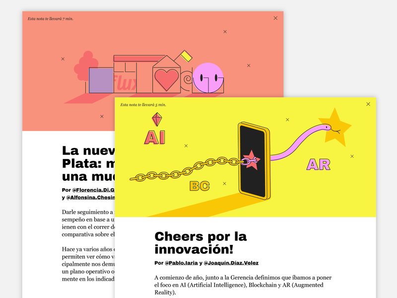 Flux IT News' December edition web design vector art direction ui illustration digital